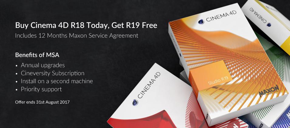 Buy Cinema 4D R18, Receive R19 Free