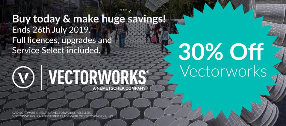 30% discount on Vectorworks