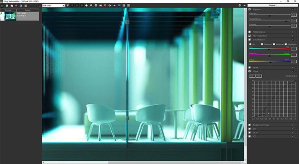 V-Ray for SketchUp Frame Buffer
