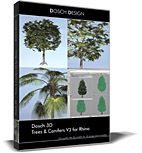 DOSCH 3D: Trees & Conifers V3 for Rhino