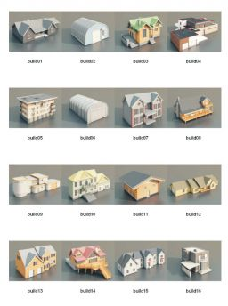 DOSCH 3D: Buildings V2 for Maxwell Render