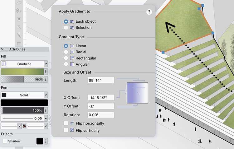Improved UI in Vectorworks 2022