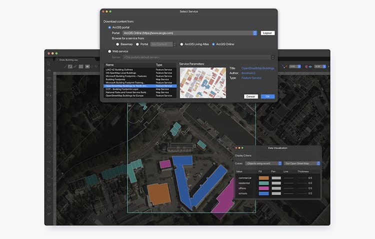 ArcGIS Feature Layers in Vectorworks 2022