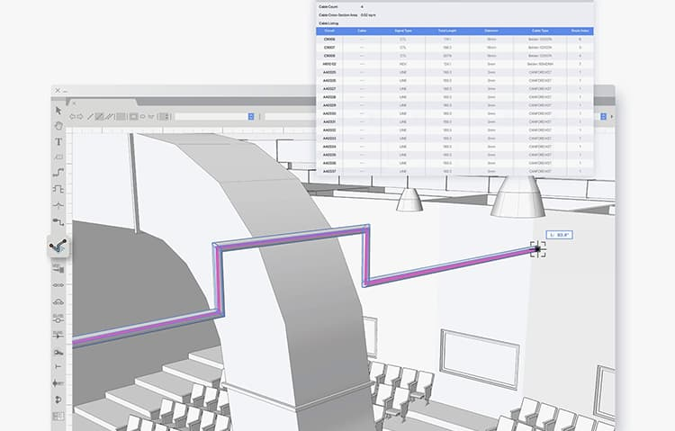 Cable Route Planning in ConnectCAD