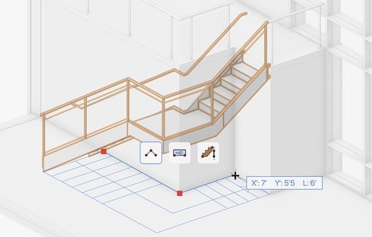 Improved stair tool in Vectorworks 2022